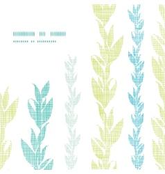 Blue green seaweed vines frame corner pattern vector image