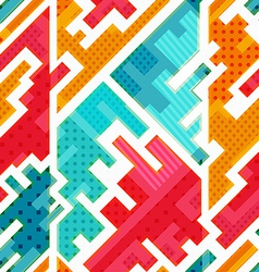 bright funky seamless pattern vector image vector image