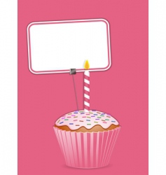 cupcake and label vector image vector image