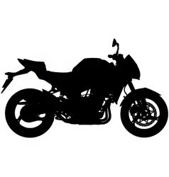 motorbike silhouette vector image vector image