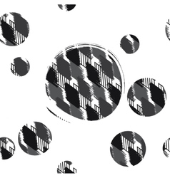 seamless pattern spotty rhombuses with circle vector image vector image