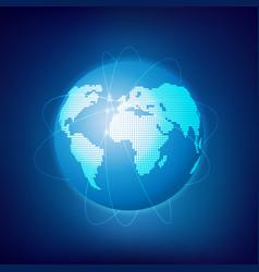 digital map vector image
