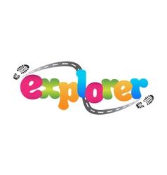 Explorer vector image