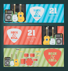 music banner background vector image