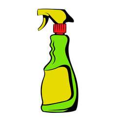 plastic hand spray bottle icon icon cartoon vector image vector image