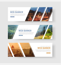 template of white web banners with diagonal vector image vector image