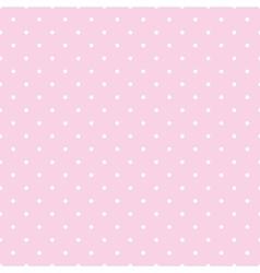 Tile pattern white polka dots on pink background vector image