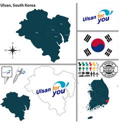ulsan metropolitan city south korea vector image vector image