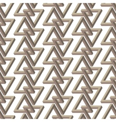 Impossible triangle seamless pattern vector image vector image