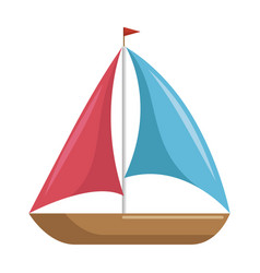 isolated sailboat icon vector image vector image