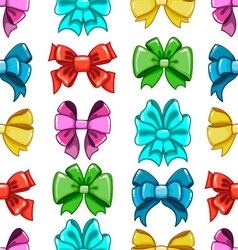 Seamless pattern cute cartoon bows-7 vector image vector image