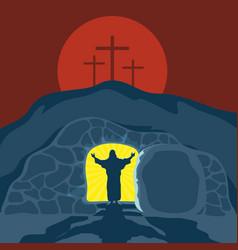 A 4silence risen jesus christ vector