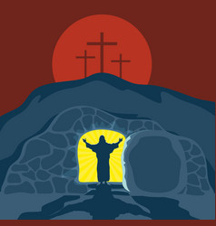 a 4the silence of the risen jesus christ vector image