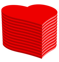 abstract heart pile vector image