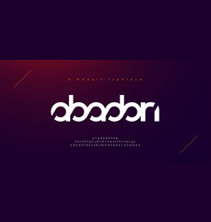 abstract sport modern alphabet fonts typography vector image