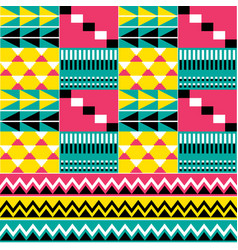 African tribal fabrics inspired design kente vector
