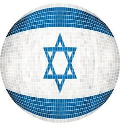 Ball with Israel flag vector