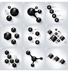 Black cloud computing background with web icons vector image