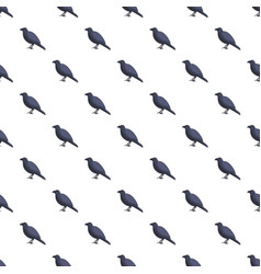 black crow pattern seamless vector image