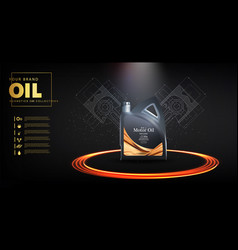 Bottle engine oil on a background a motor-car vector
