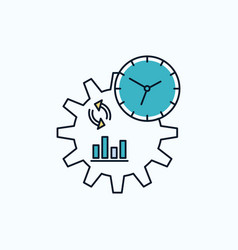 Business engineering management process flat icon vector