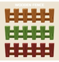 Cartoon colorful wooden fence vector