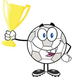 Cartoon soccer ball vector