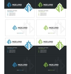 Castle tower business card 2 vector