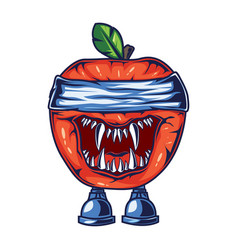 character design based on apples with a spooky vector image