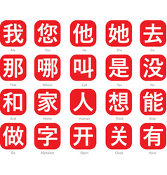 chinese word logo-1 vector image