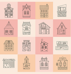 City architecture set vector