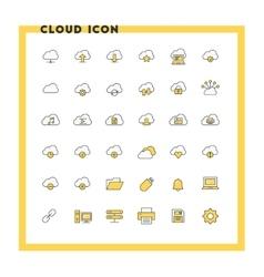 Cloud computing flat design icon set Cloud vector image
