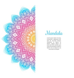 Color Mandala background template vector image