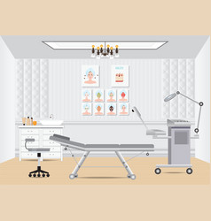 Cosmetology beauty salon isometric interior with vector