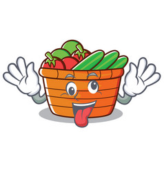 Crazy fruit basket character cartoon vector