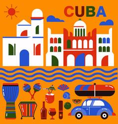 Cuba havana vector