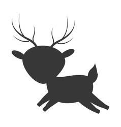 Cute reindeer cartoon icon vector