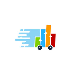 data delivery logo icon design vector image