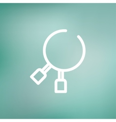 Dental tool thin line icon vector
