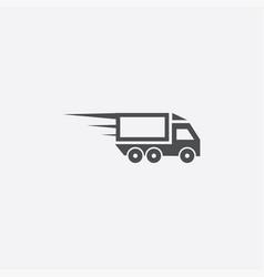 Fast truck icon vector