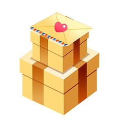 gift boxed and card vector image