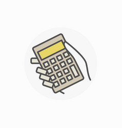 hand holding calculator icon vector image