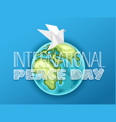 Happy international peace day card vector