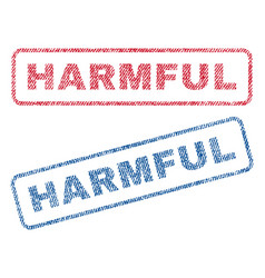 Harmful textile stamps vector