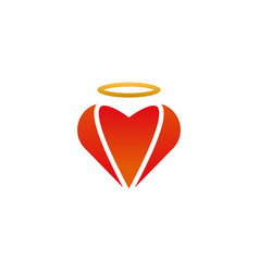 heart shape logo design template vector image