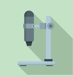 hospital microscope icon flat style vector image