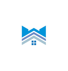 house roof logo vector image