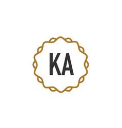 Initial letter ka elegance creative logo vector
