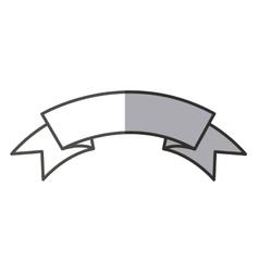 Isolated blank ribbon design vector