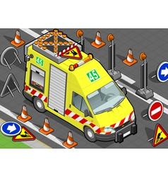 Isometric roadside assistance truck vector